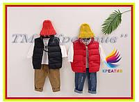Пошив детских теплых жилетов стеганных под заказ от 50 шт.