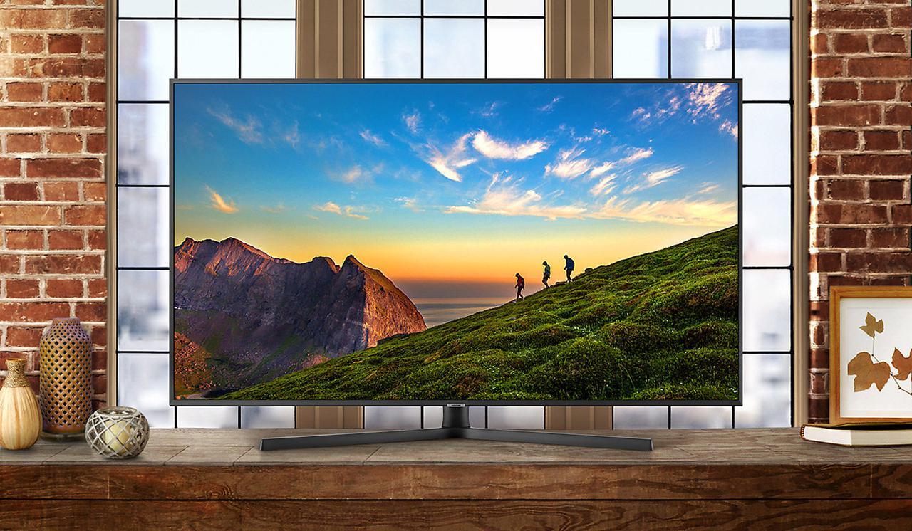 Телевизор Samsung UE55NU7400 (PQI1700Гц, 4K, Smart, UHD Engine, HLG, HDR10+, Dolby Digital+ 20Вт, DVB-C/T2/S2)