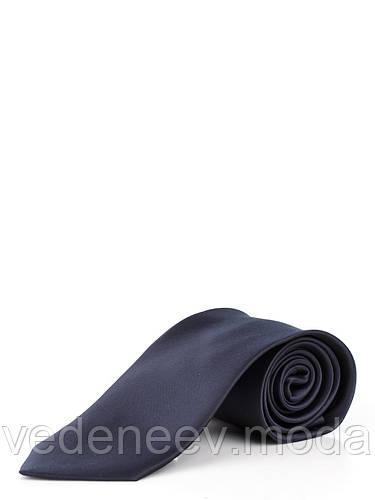 Галстук классический темно-синий