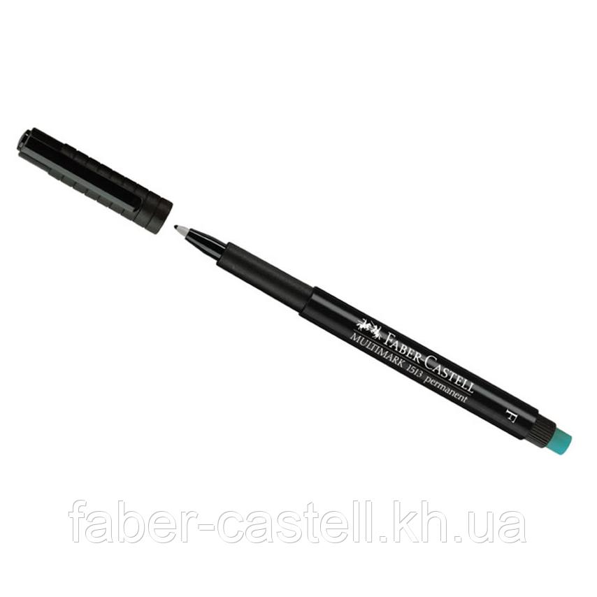 Маркер перманентный Faber-Castell Multimark OHP 1513  F (0,6 мм) чёрный, 151399