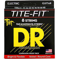 Струны DR TF8-11 Tite-Fit Nickel Plated 8-String 11-80
