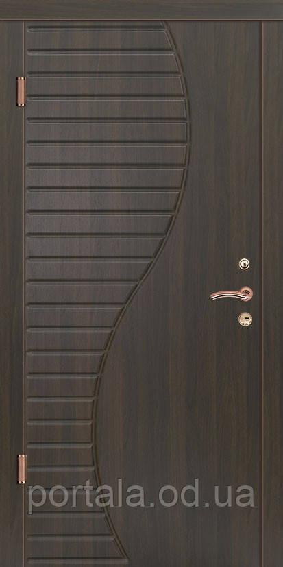 """Вхідні двері для вулиці """"Портала"""" (Стандарт Vinorit) ― модель Хвиля"""