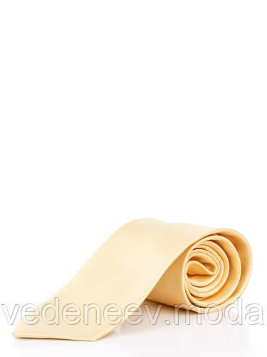 Галстук классический желтый