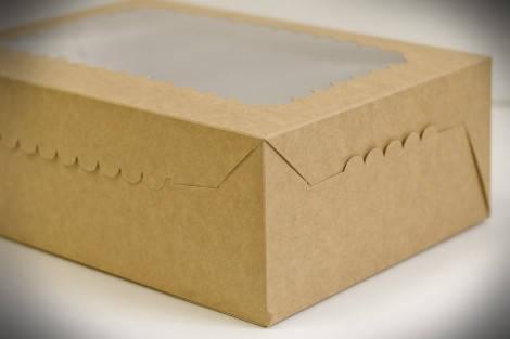 Коробки для кексов, маффинов, капкейков для 12 шт. КРАФТ(Упаковка 3 шт.), фото 2