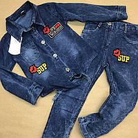 Костюм джинсовый для девочки. 5-6-7-8 лет