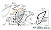 Молдинг двери (слизователь) задний правый Nissan Leaf ZE0 (10-13) 82820-3NA0A