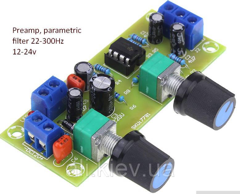 Фильтр для сабвуфера регулировка частоты среза, громкости, предусилитель темброблок