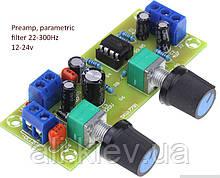 Низкочастотный фильтр для сабвуфера с регулировкой частоты среза, уровня громкости, предусилитель темброблок