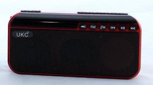 Радио портативная колонка с фонариком UKC SPS U188 Red