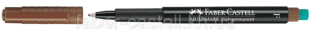Маркер перманентный Faber-Castell Multimark OHP 1513  F (0,6 мм) коричневый, 151378