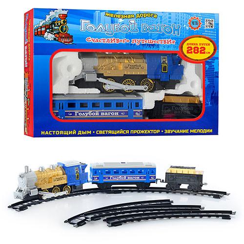 """Дитяча залізнична дорога 70144 """"Голубий вагон"""", довжина колії 282 см, в коробці"""