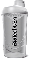 Спортивный шейкер BioTech USA белый 600 мл