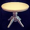 Обеденный раздвижной стол из массива дуба диаметр 80 см