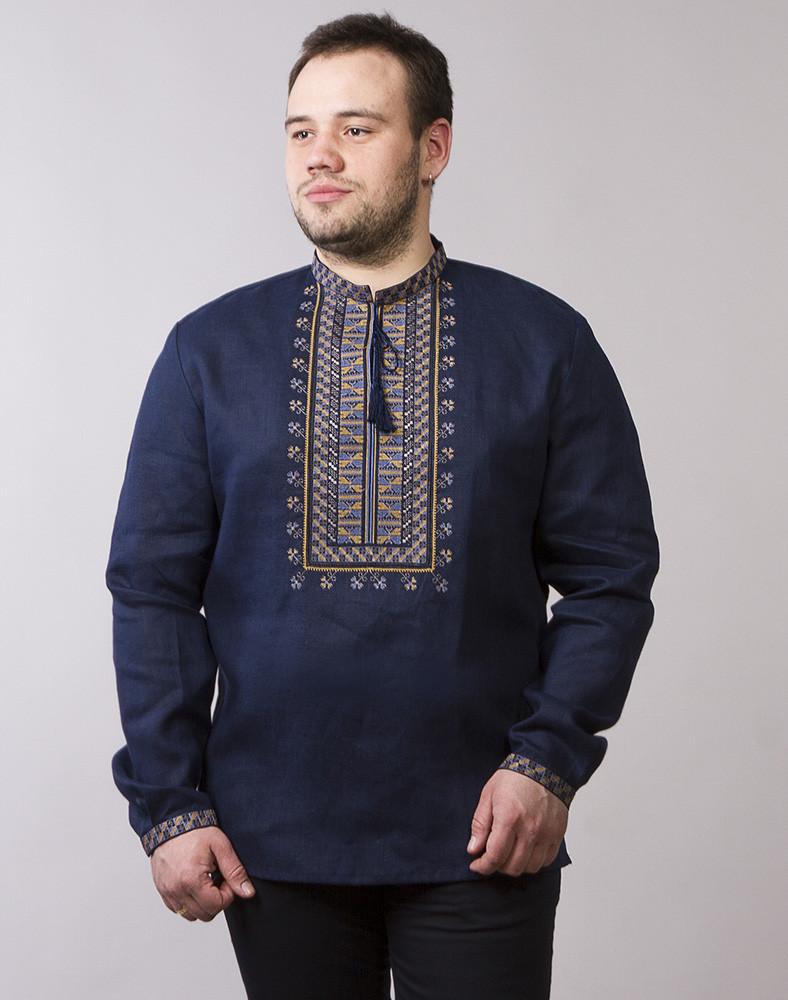 Вишита сорочка синя лляна розміри в наявності  продажа 2a82b83dcc80c