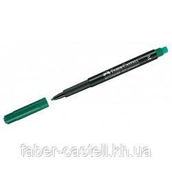 Маркер перманентный Faber-Castell Multimark OHP 1525  M (1,0 мм) зеленый, 152563