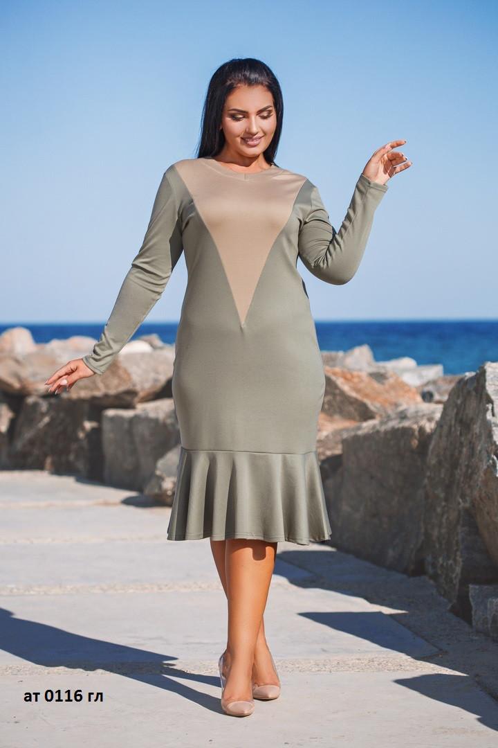 Платье уголок женское ат 0116 гл, разные цвета