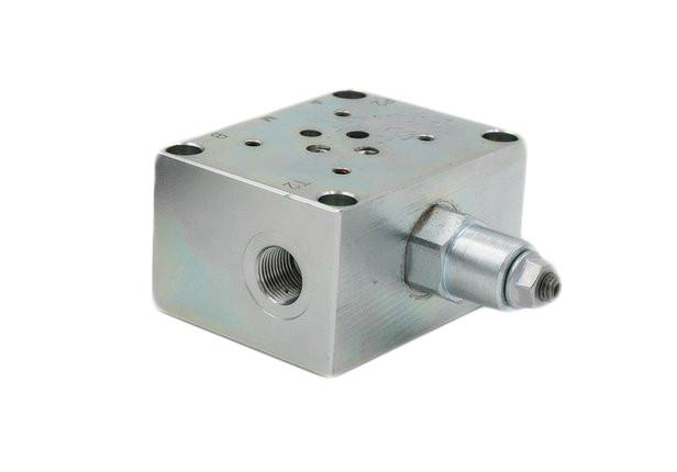 Плита з запобіжним клапаном під ДУ-6 bar 10-70