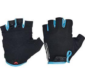 Велоперчатки NorthWave Jet Short L gloves черный / голубой (С8916207408)