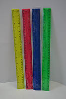 Линейка пластиковая неон 30 см TUKZAR