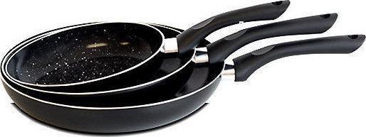 Набор сковородок Royalty Line BLACK 3 pcs (RL-PM3), Швейцария, черный