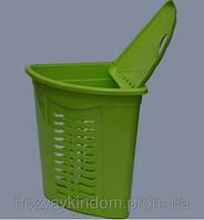 Корзина для белья угловая Ал-пластик