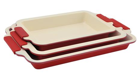 Набор форм для выпекания Royalty Line 3pcs (RL-CC3R), Швейцария, красный