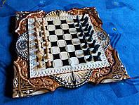 """Ексклюзивна пропозиція - набір Шахи, шашки, нарди 3 в 1 від """"Майстер-Маркет""""."""