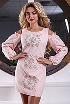 Женское платье с вырезами на плечах и вышивкой (2562-2563-2561 svt), фото 2