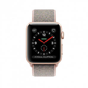 Apple Watch Series 3 GPS + Cellular 38mm Gold Aluminum with Pink Sand Sport Loop (MQJU2), фото 2