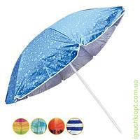 Зонт пляжный , сер-ро+наклон, диаметр 1.8