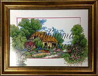 Схема для вишивки Барвиста вишиванка  Будинок серед дерев , фото 1