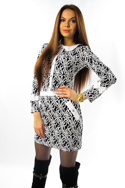 Нарядное молодежное платье с принтом