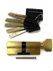 Цилиндровый механизм 60(30Тx30) Шерлок с тумблером Золото