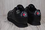 Кросівки в стилі Reebok Classic Black унісекс, фото 4