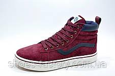 Зимние кроссовки в стиле Vans Old Skool Winter, на меху (Бордовый), фото 2