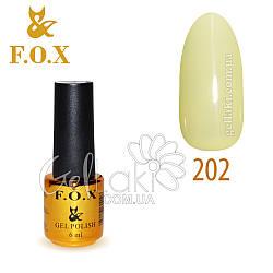 Гель-лак Fox №202, 6 мл (бледно-желтый)