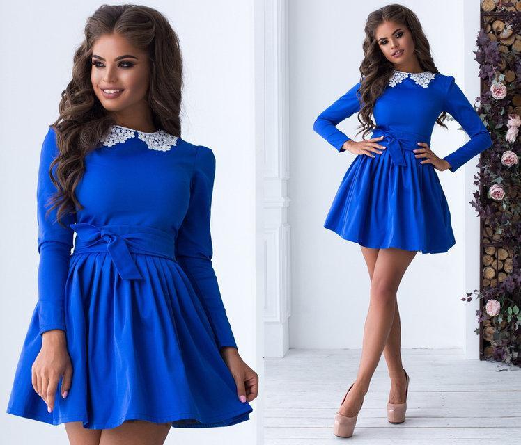 Платье женское короткое «Школьница» (К24097)