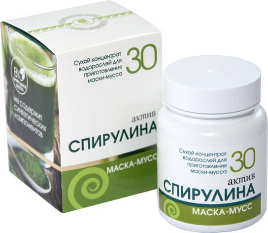 Маска косметическая сухая Спирулина актив, 30 г., фото 2