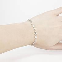 Серебрянный браслет со вставками из фианитов Арт. BS005SV, фото 2