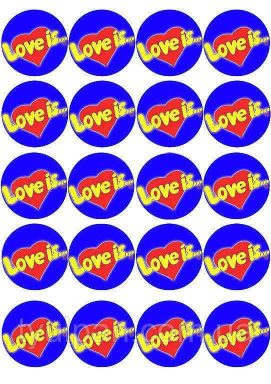 Вафельная картинка Love is (Лов из)