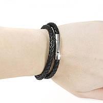 Кожаный браслет двойной Арт. BS005LR, фото 2