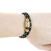 Текстильный браслет с закручивающейся застежкой черный Арт. BS003SL, фото 2