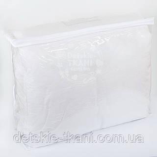 Сумка для упаковки текстиля, с силиконовой ручкой, на молнии, прозрачная,  60*50*20 см