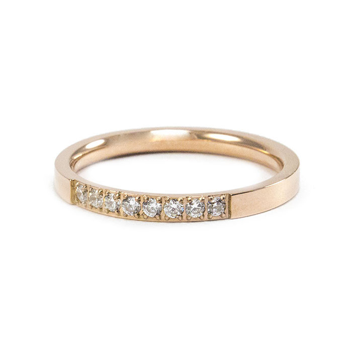 Кольцо с фианитами цвета розового золота Арт. RN003SL (18)