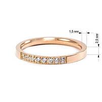 Кольцо с фианитами цвета розового золота Арт. RN003SL (18), фото 5