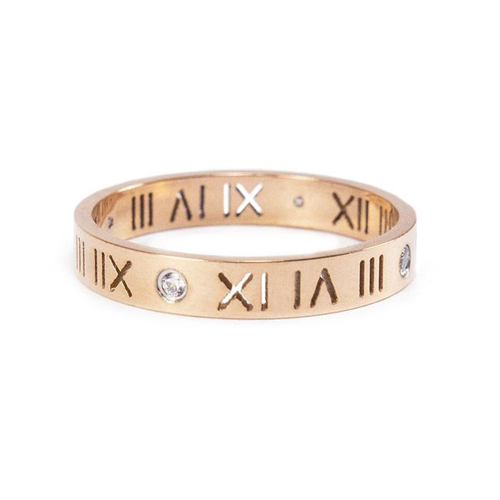 Кольцо с римскими цифрами Арт. RN007SL (18)