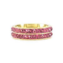 Кольцо с двумя рядами розовых фианитов Арт. RN017SL (19), фото 3