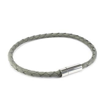 Кожаный браслет серый Арт. BS007LR