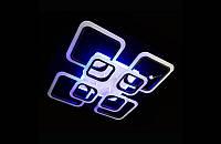 Светодиодная люстра с пультом-диммером и синей подсветкой белая А-8060-4+4
