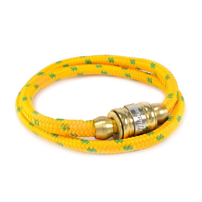 Текстильный браслет с закручивающейся застежкой желтый Арт. BS021SL